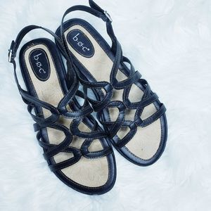 BORN BOC  black strappy sandals flats